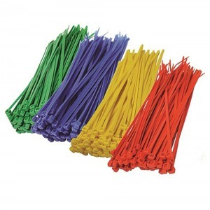 CABLE TIES 300x4.8mm RED (PACK=100) BLUE GREEN RED AND YELLOW 500 OF EACH REQUIRED